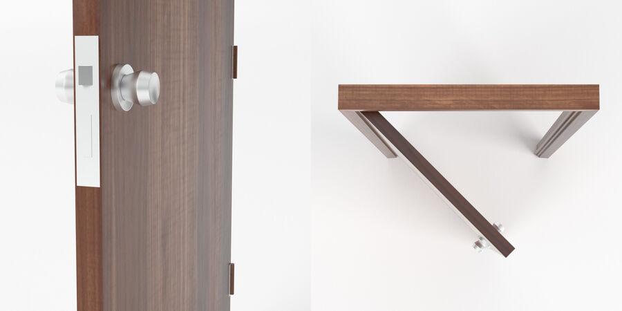 Vlakke deur met kozijn royalty-free 3d model - Preview no. 4