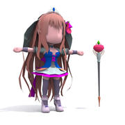 Chibi girl 3D Model_set02 modelo 3d