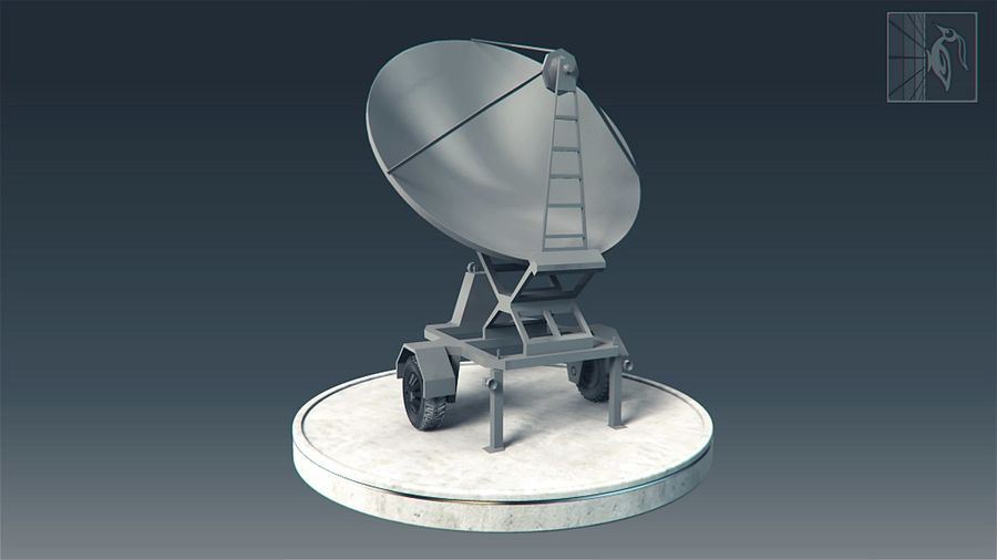 Military radar vehicle royalty-free 3d model - Preview no. 1
