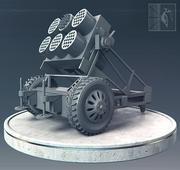 Ракетная установка 3d model