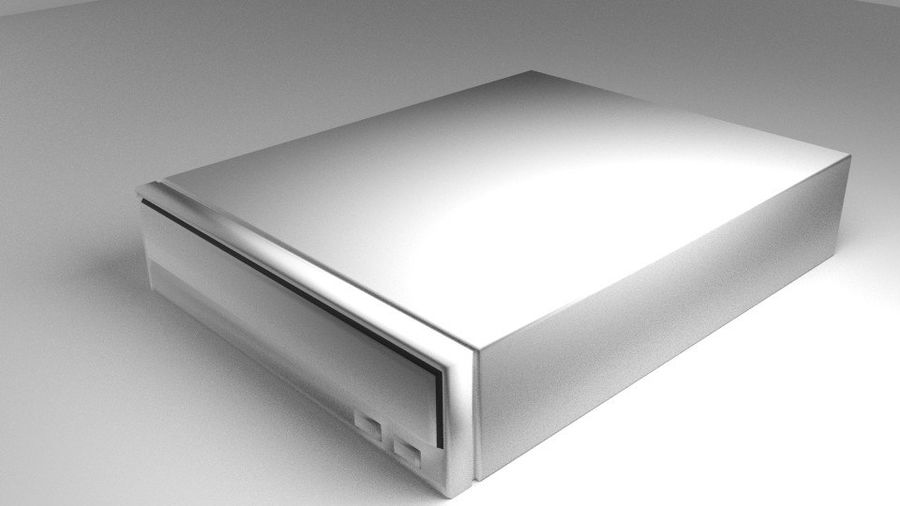 Computer DVD-rom Player royalty-free 3d model - Preview no. 1