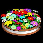 color flower 3d model