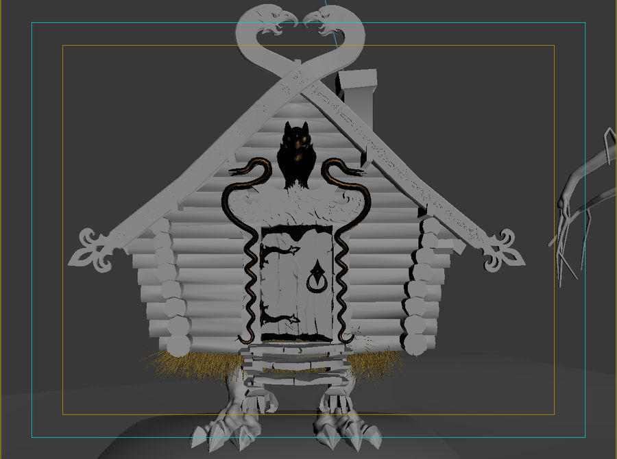 Chata Na Nogach Kurczaka royalty-free 3d model - Preview no. 10