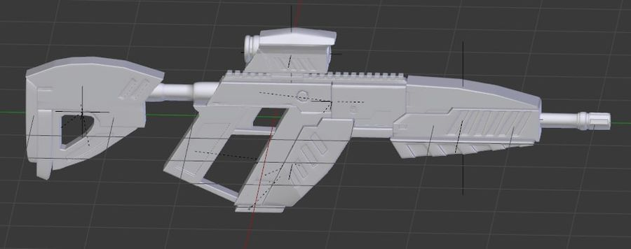 vapen royalty-free 3d model - Preview no. 5