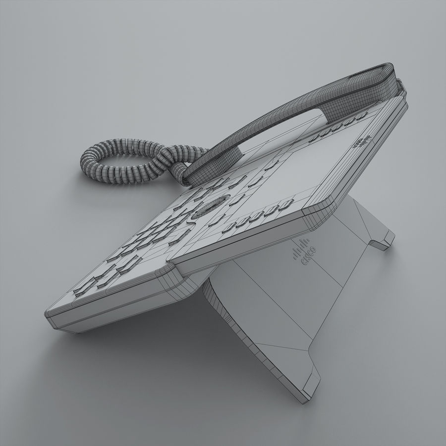 Cisco IP Phone 8841 royalty-free 3d model - Preview no. 5