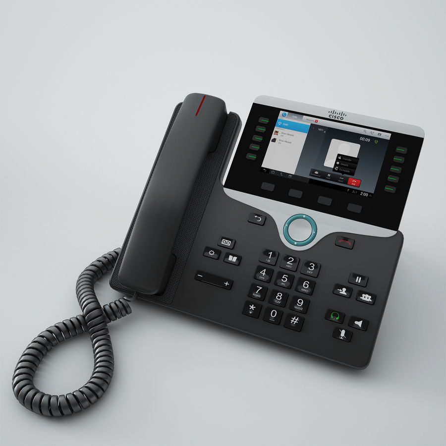 Cisco IP Phone 8841 royalty-free 3d model - Preview no. 1