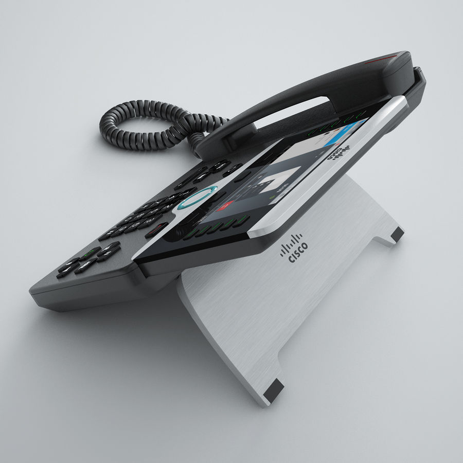 Cisco IP Phone 8841 royalty-free 3d model - Preview no. 3