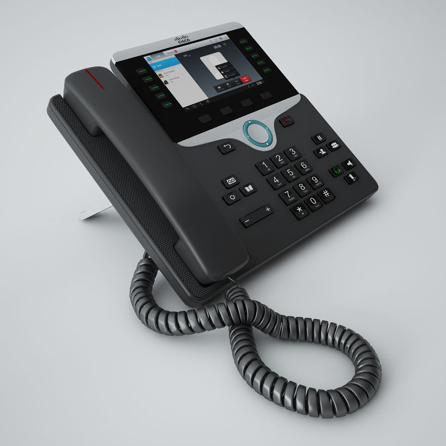 Cisco IP Phone 8841 royalty-free 3d model - Preview no. 2