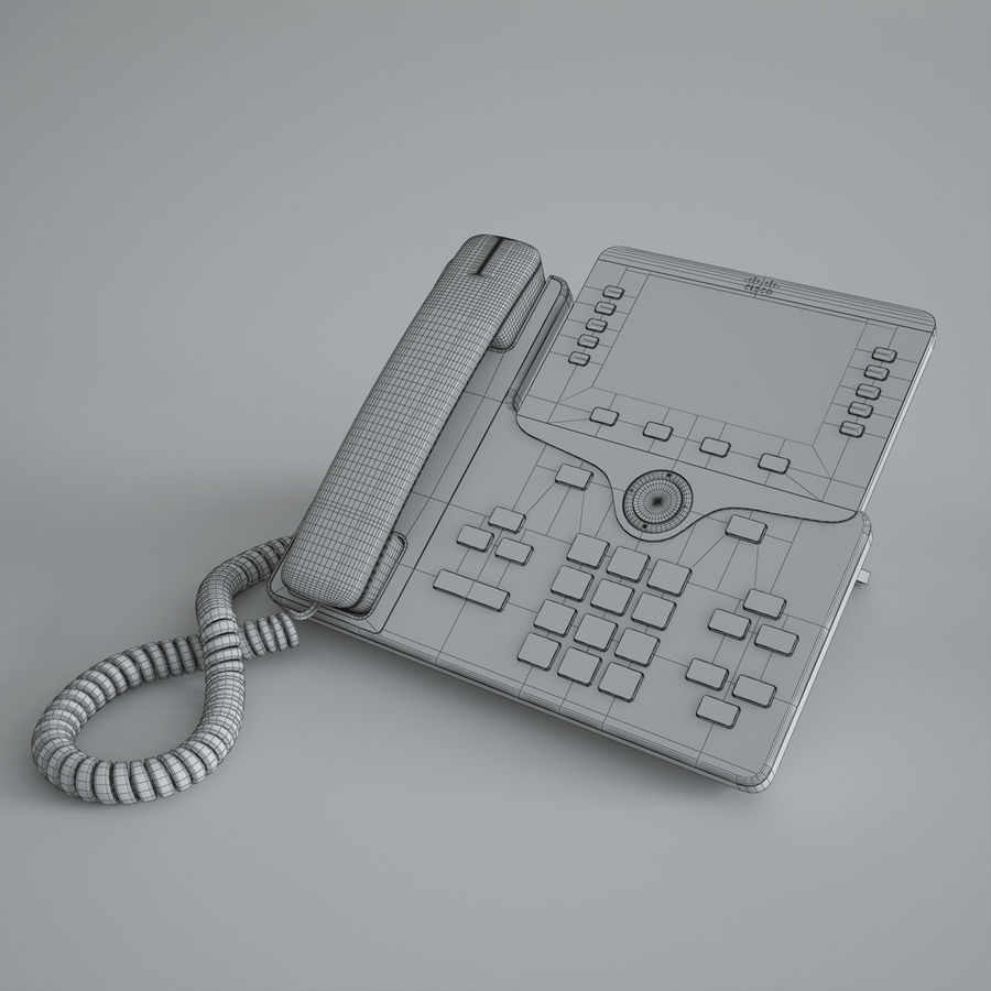Cisco IP Phone 8841 royalty-free 3d model - Preview no. 4