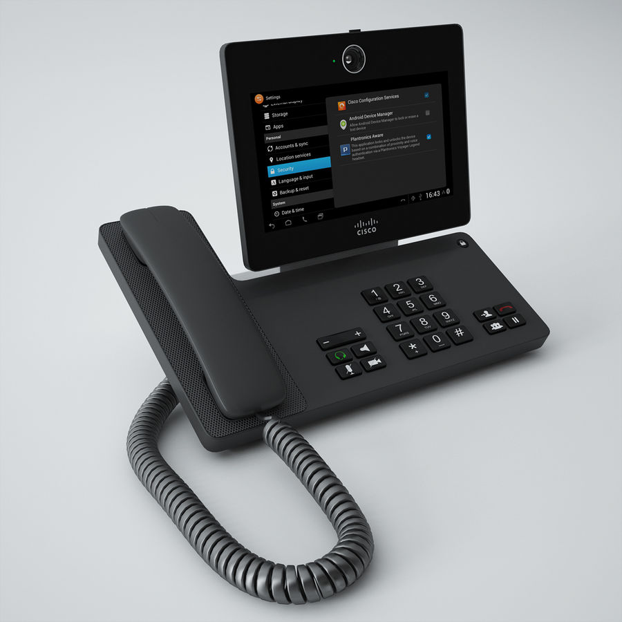 Cisco Phone DX650 royalty-free 3d model - Preview no. 2