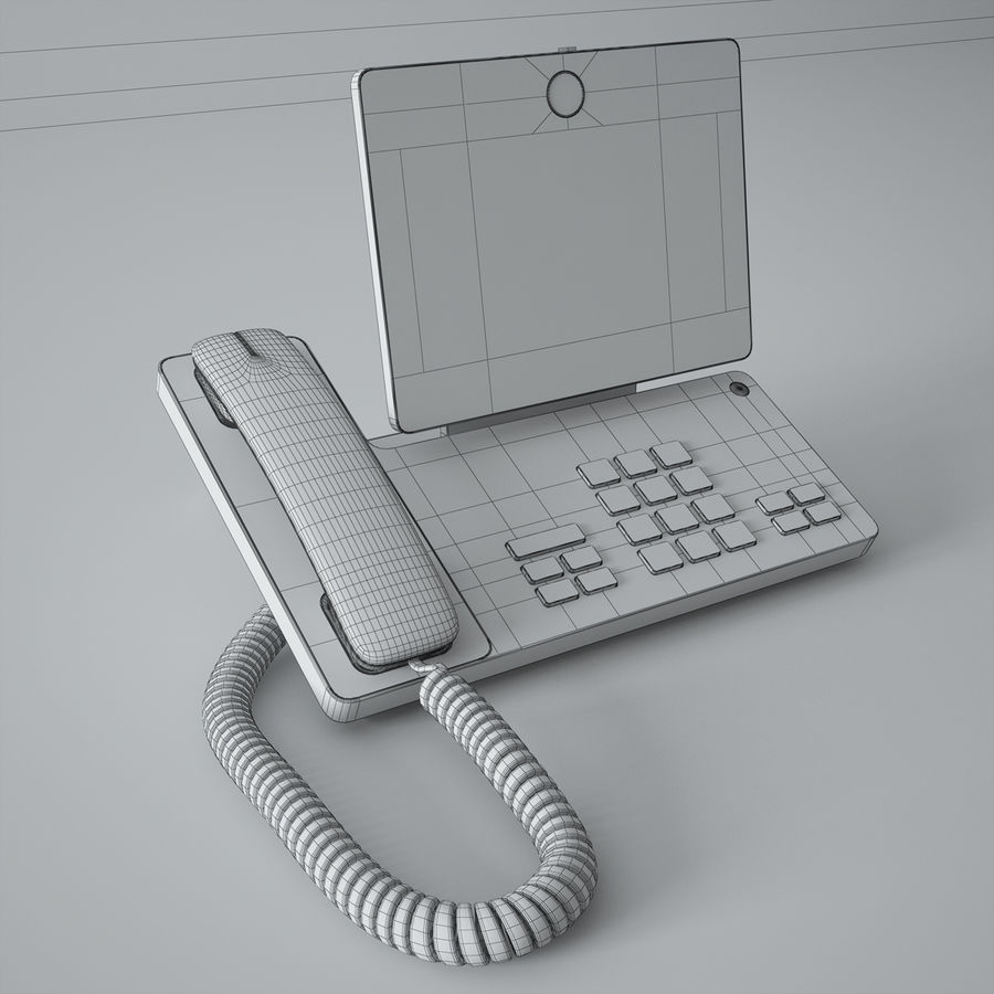 Telefone Cisco DX650 royalty-free 3d model - Preview no. 4