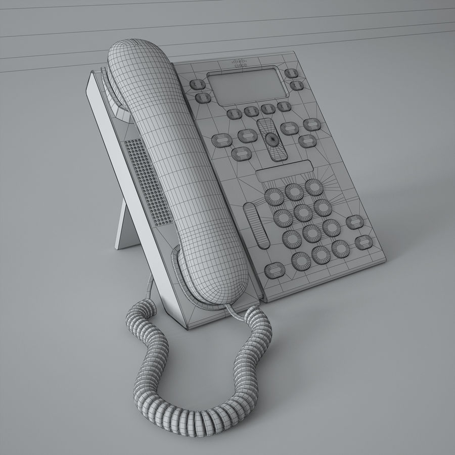 Telefone Cisco CP6941 royalty-free 3d model - Preview no. 4
