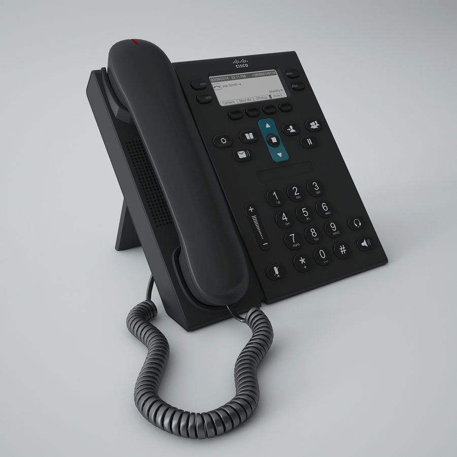 Telefone Cisco CP6941 royalty-free 3d model - Preview no. 2