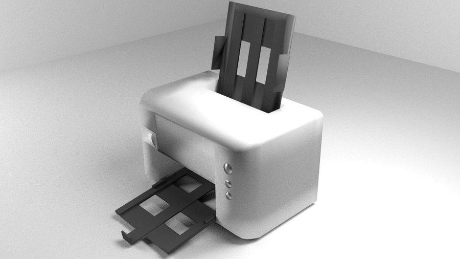 コンピュータープリンター royalty-free 3d model - Preview no. 1