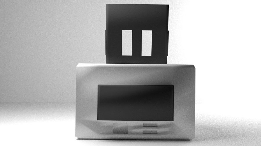 コンピュータープリンター royalty-free 3d model - Preview no. 4