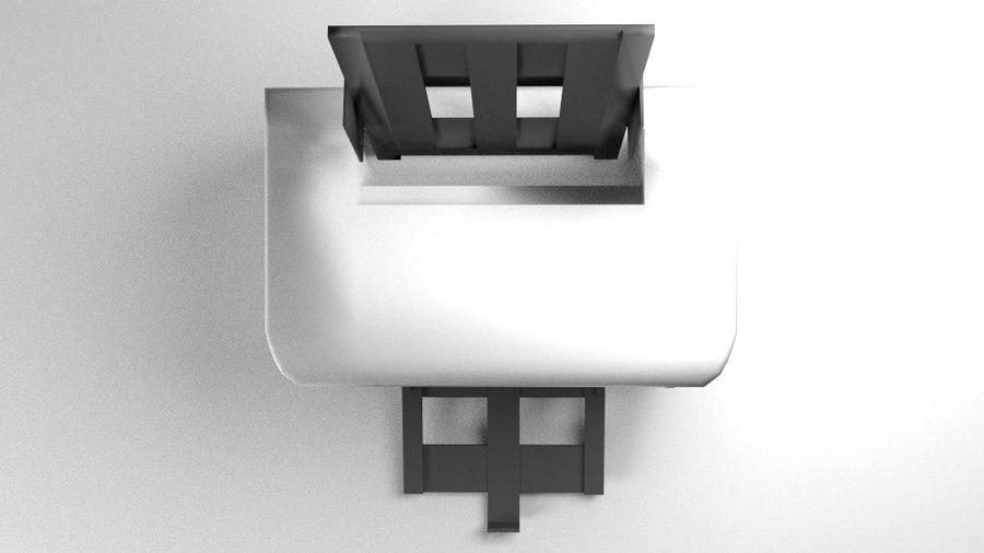 コンピュータープリンター royalty-free 3d model - Preview no. 3