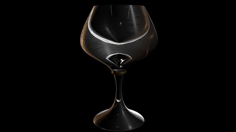 Brandy Glass royalty-free 3d model - Preview no. 3