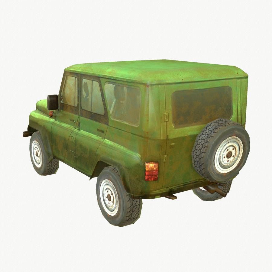 Rus SUV Düşük Poli royalty-free 3d model - Preview no. 3