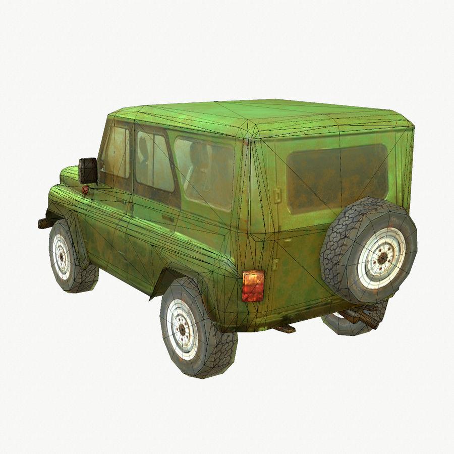 Rus SUV Düşük Poli royalty-free 3d model - Preview no. 4