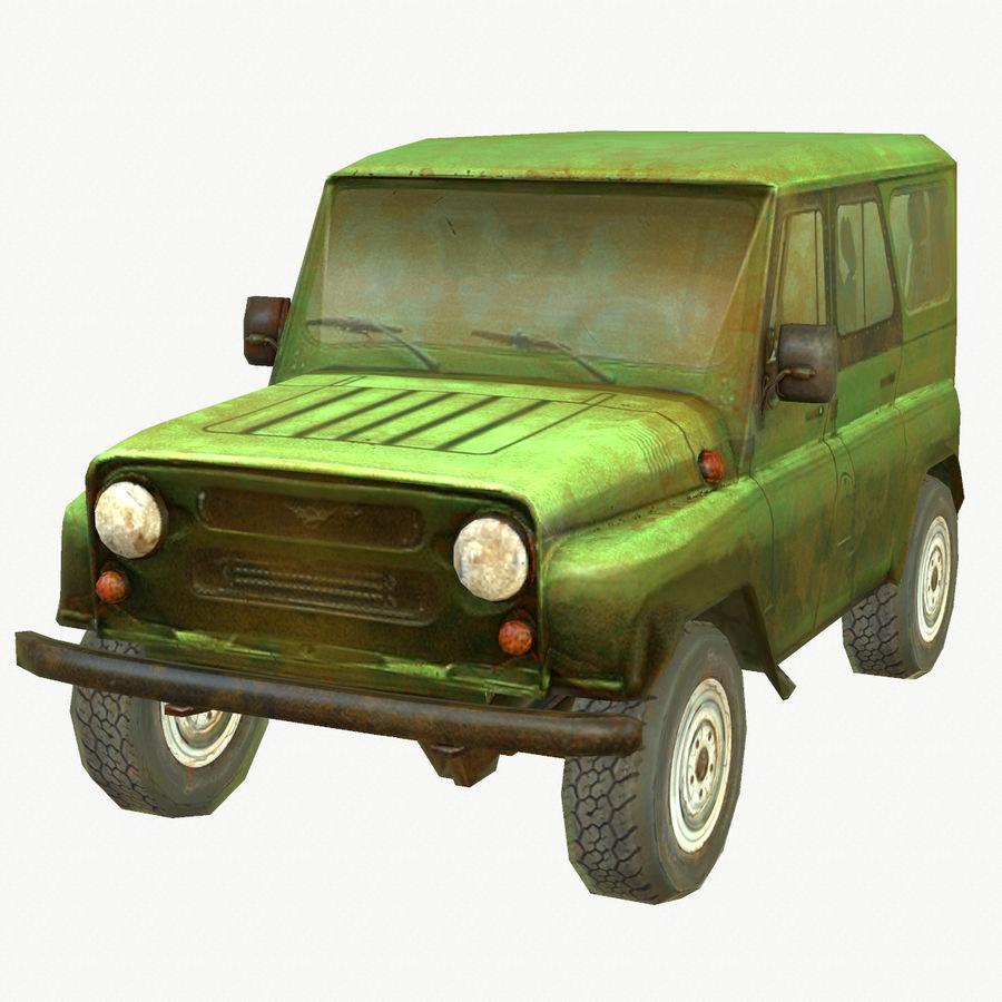 Rus SUV Düşük Poli royalty-free 3d model - Preview no. 1