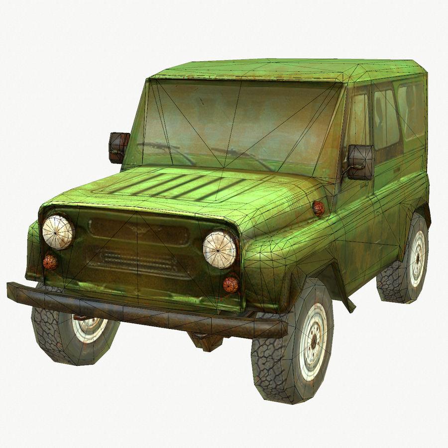 Rus SUV Düşük Poli royalty-free 3d model - Preview no. 2