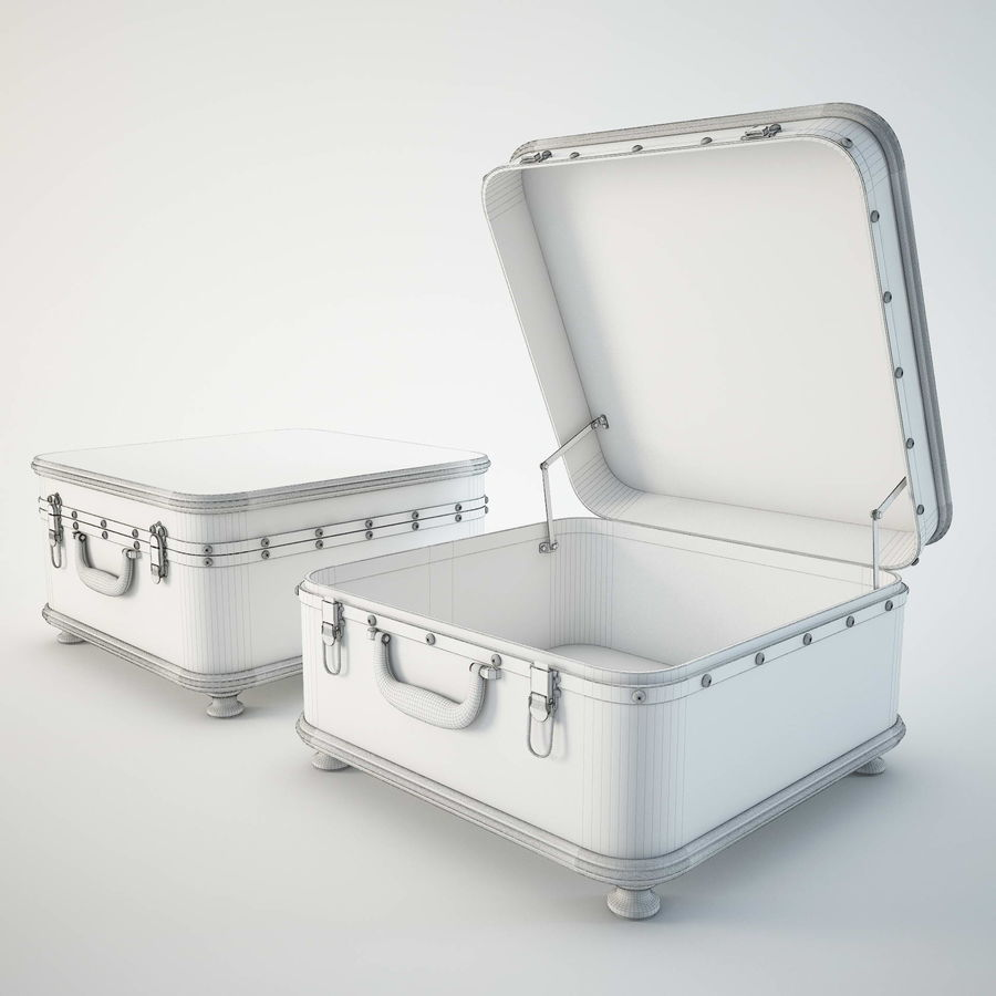 Szafka w formie walizki royalty-free 3d model - Preview no. 10