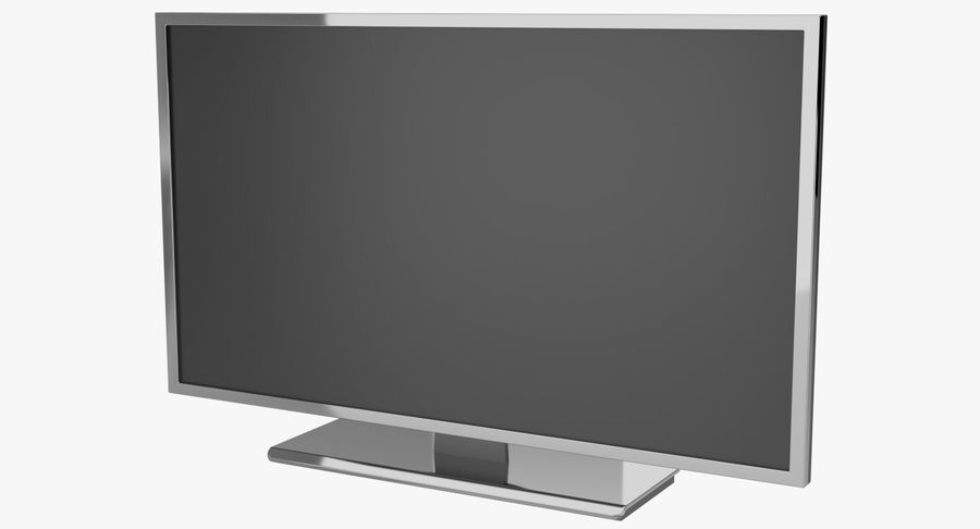 TV LED royalty-free 3d model - Preview no. 2