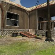 Zombie House Post Apocalyptic 3d model