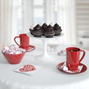 ロマンチックな朝食セット 3d model