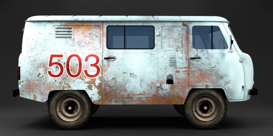 UAZ 3309 russisch royalty-free 3d model - Preview no. 2