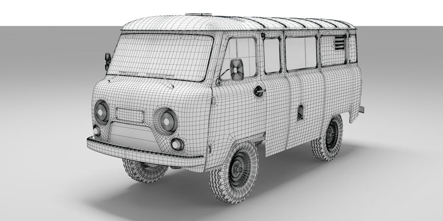 UAZ 3309 russisch royalty-free 3d model - Preview no. 7