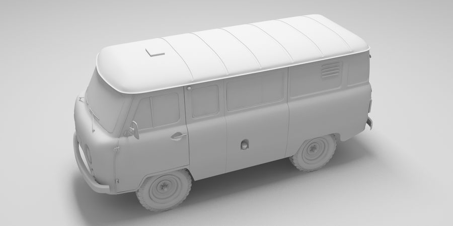 UAZ 3309 russisch royalty-free 3d model - Preview no. 10