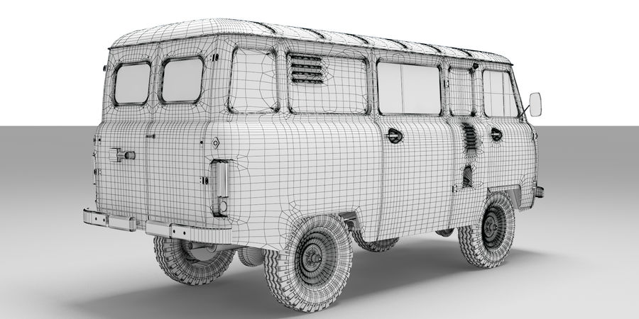 UAZ 3309 russisch royalty-free 3d model - Preview no. 6