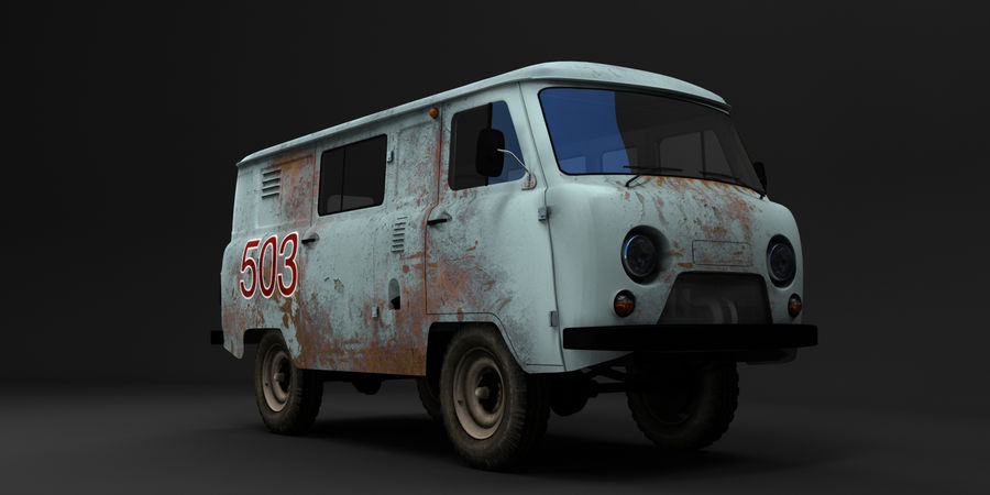 UAZ 3309 russisch royalty-free 3d model - Preview no. 1