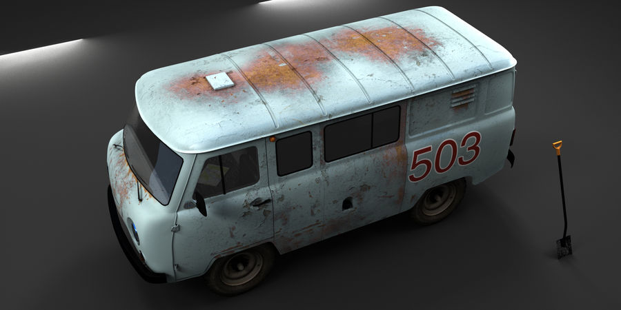 UAZ 3309 russisch royalty-free 3d model - Preview no. 4
