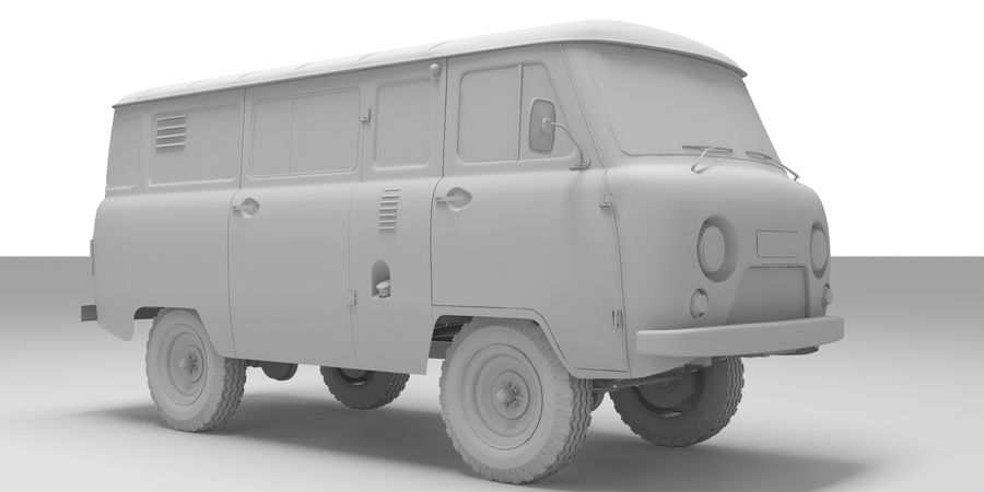 UAZ 3309 russisch royalty-free 3d model - Preview no. 9