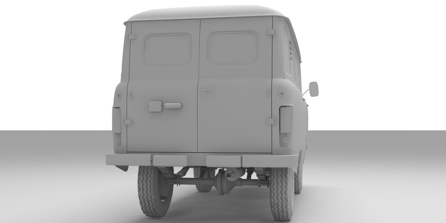 UAZ 3309 russisch royalty-free 3d model - Preview no. 8