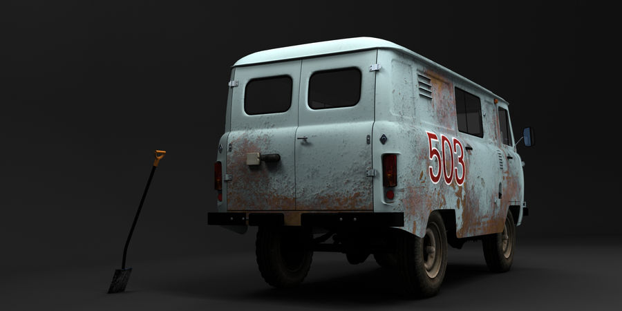 UAZ 3309 russisch royalty-free 3d model - Preview no. 3