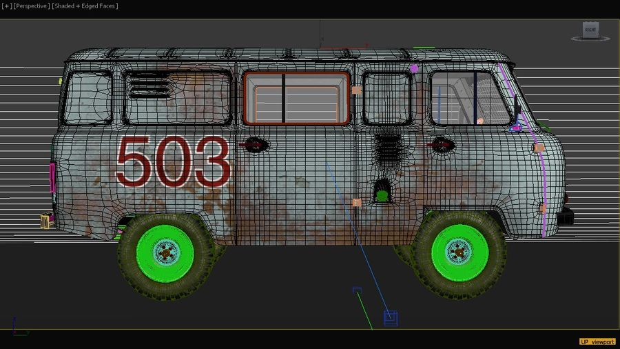 UAZ 3309 russisch royalty-free 3d model - Preview no. 11