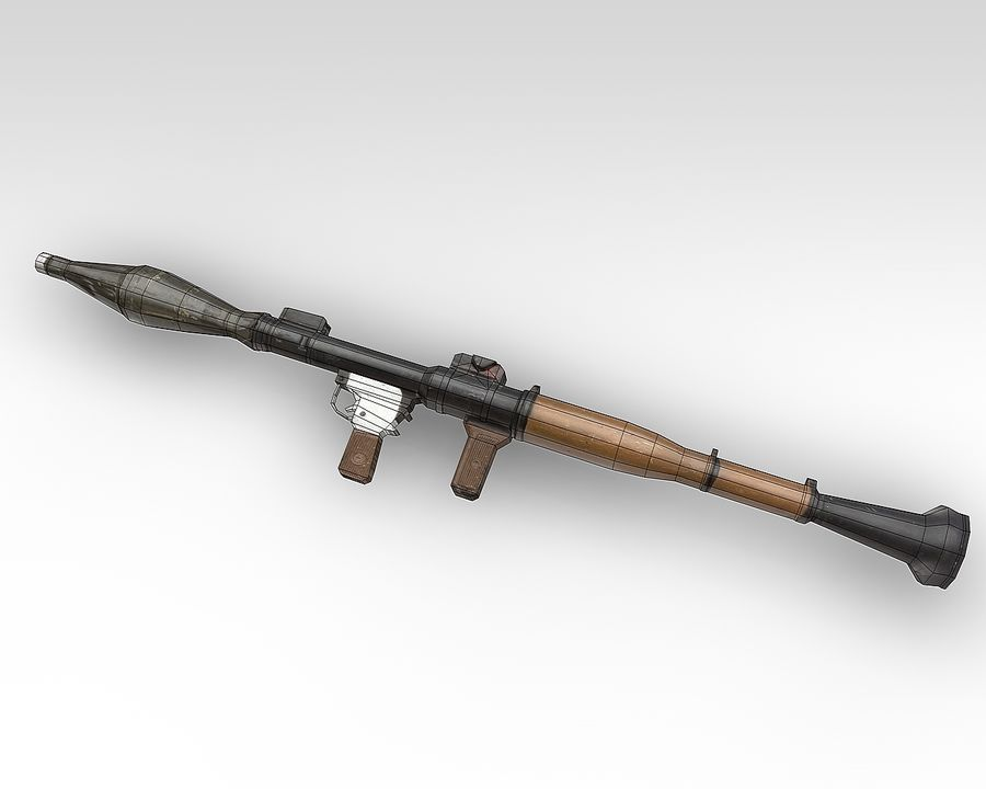 rpg7 royalty-free 3d model - Preview no. 3