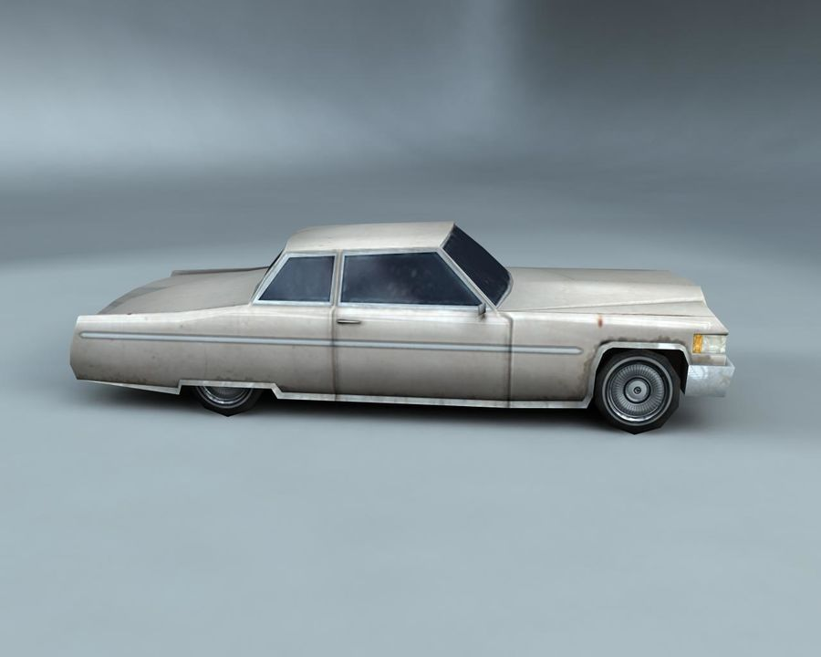1970-talets Sedan Car royalty-free 3d model - Preview no. 3