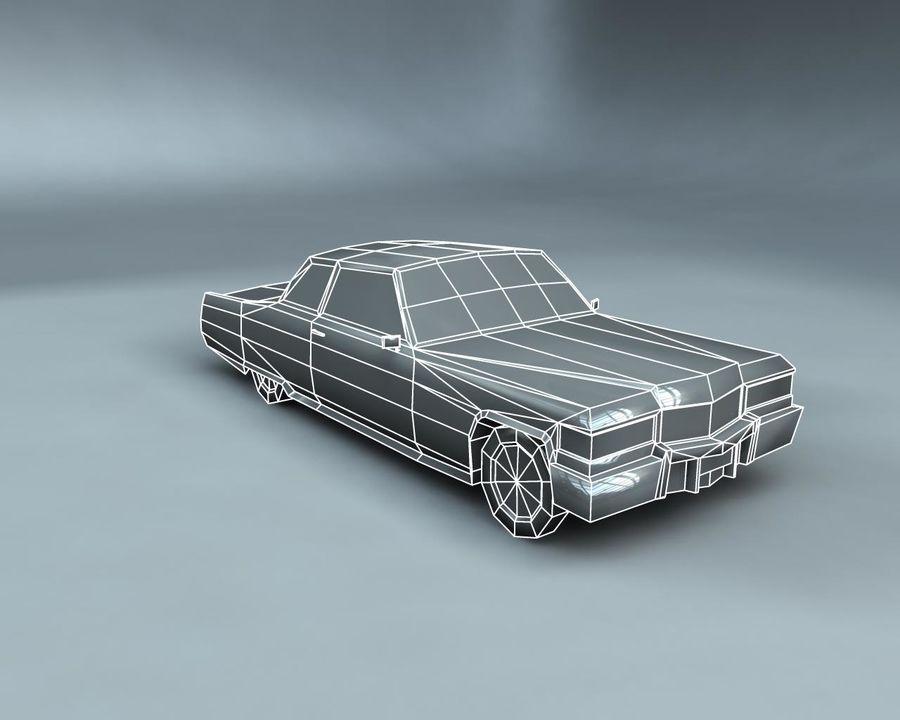 1970-talets Sedan Car royalty-free 3d model - Preview no. 20