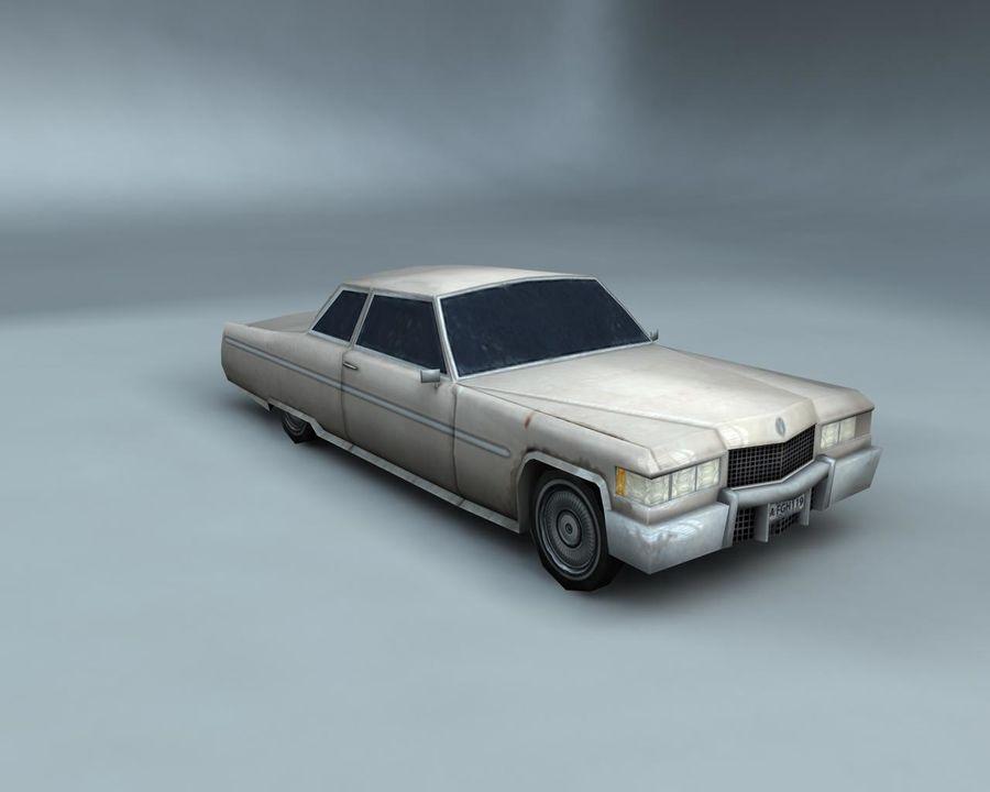 1970-talets Sedan Car royalty-free 3d model - Preview no. 1