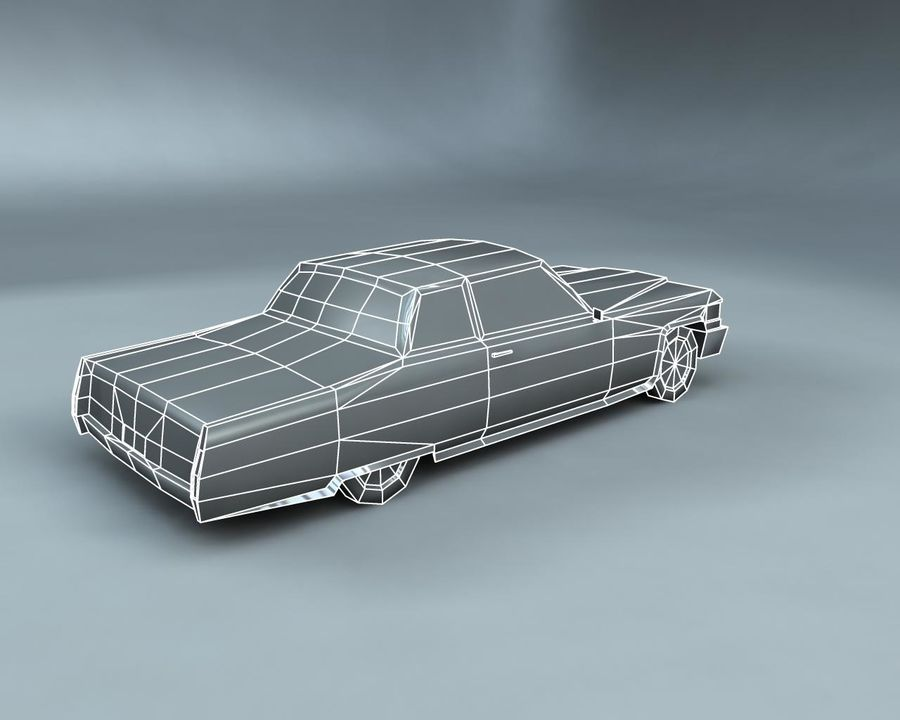 1970-talets Sedan Car royalty-free 3d model - Preview no. 14