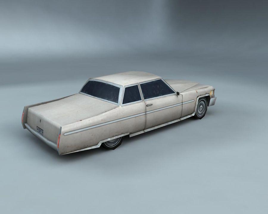 1970-talets Sedan Car royalty-free 3d model - Preview no. 4