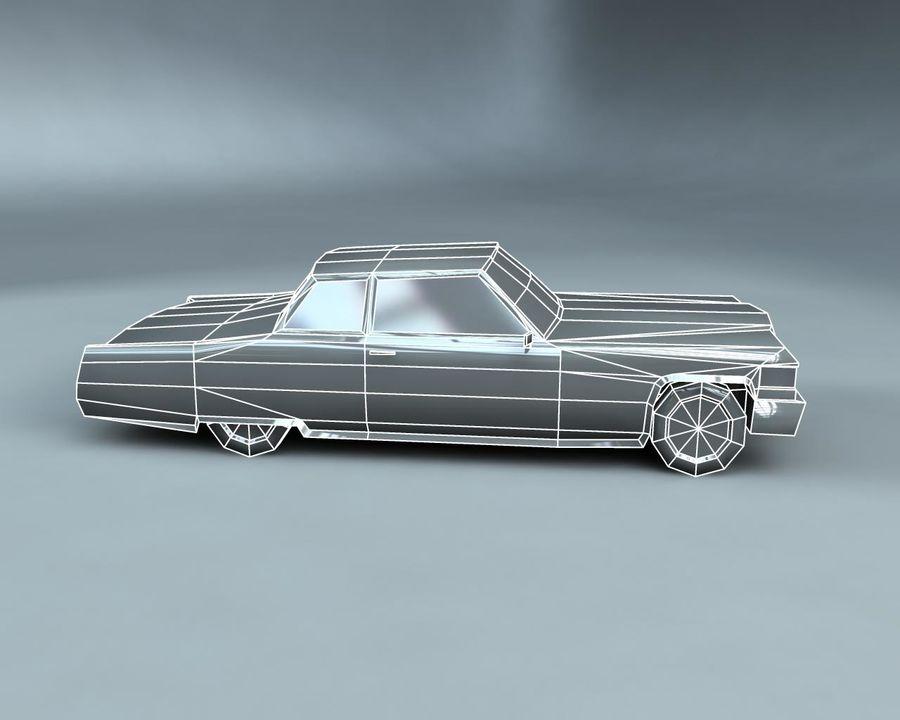 1970-talets Sedan Car royalty-free 3d model - Preview no. 13