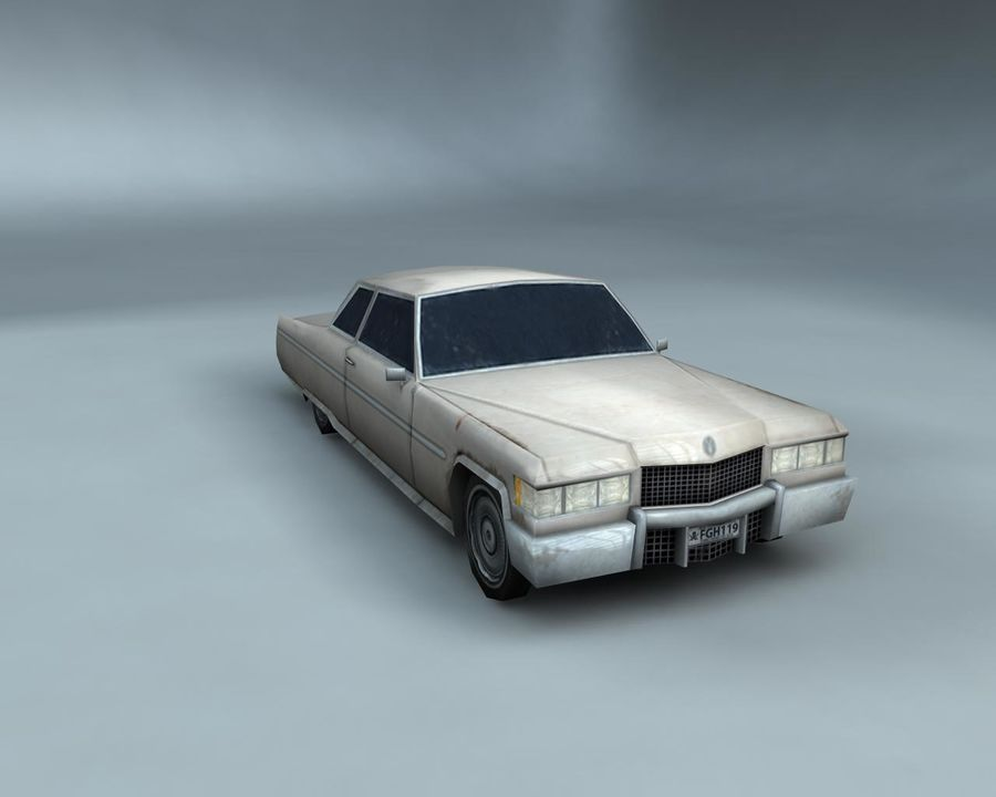 1970-talets Sedan Car royalty-free 3d model - Preview no. 9