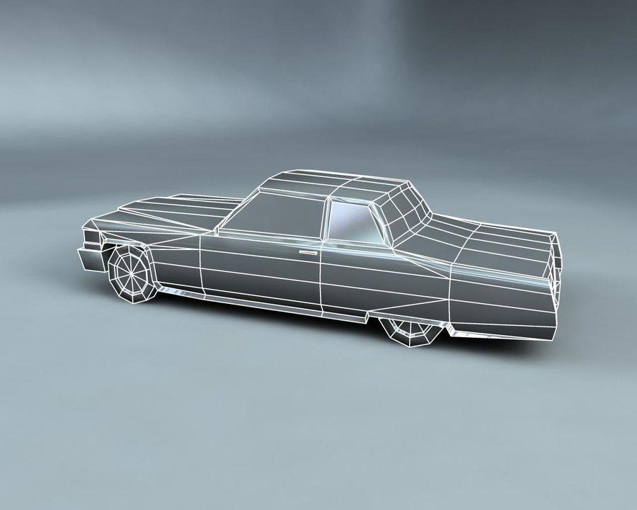 1970-talets Sedan Car royalty-free 3d model - Preview no. 16