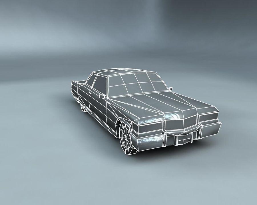1970-talets Sedan Car royalty-free 3d model - Preview no. 19