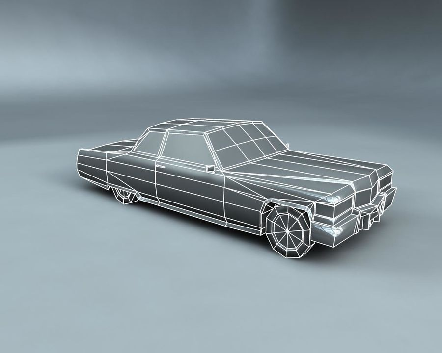 1970-talets Sedan Car royalty-free 3d model - Preview no. 12